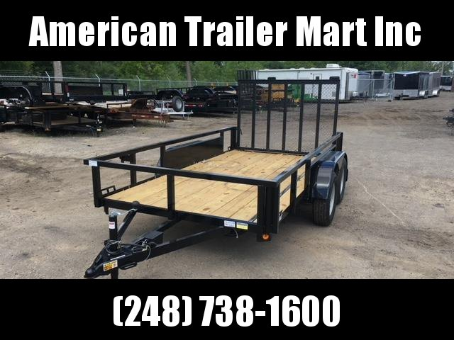 6 X 12 Tandem Axle Open Utility Trailer