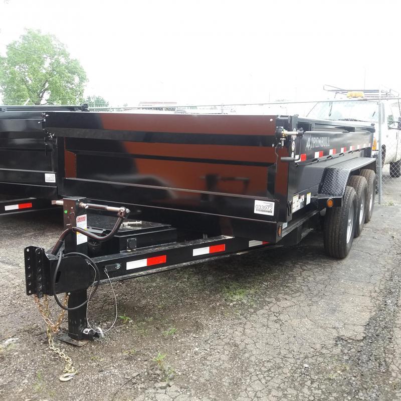 83 x 16 IRON BULL Dump Trailer 21K Tri Axle