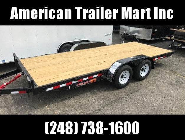 "82"" X 18 Flatbed / Tilt / Open Car Hauler Trailer"