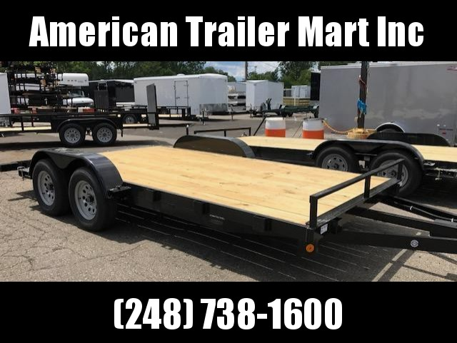 "83"" X 16 Open Car Hauler / Flatbed Trailer"