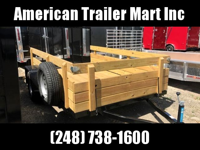 6.4 X 10  Single Axle Open Utility Trailer