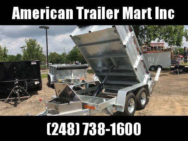 6 X 10 10K Galvanized Dump Trailer