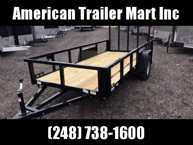 5 X 12 Single Axle Open Utility Trailer