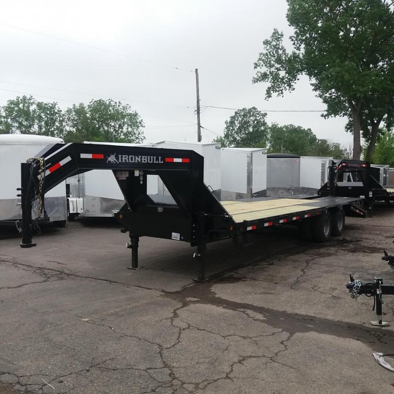 102 X 25 Low Pro Open Gooseneck Trailer 20K