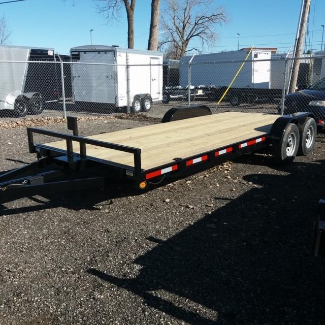 83 X 20 Open Car Hauler/Flatbed Trailer