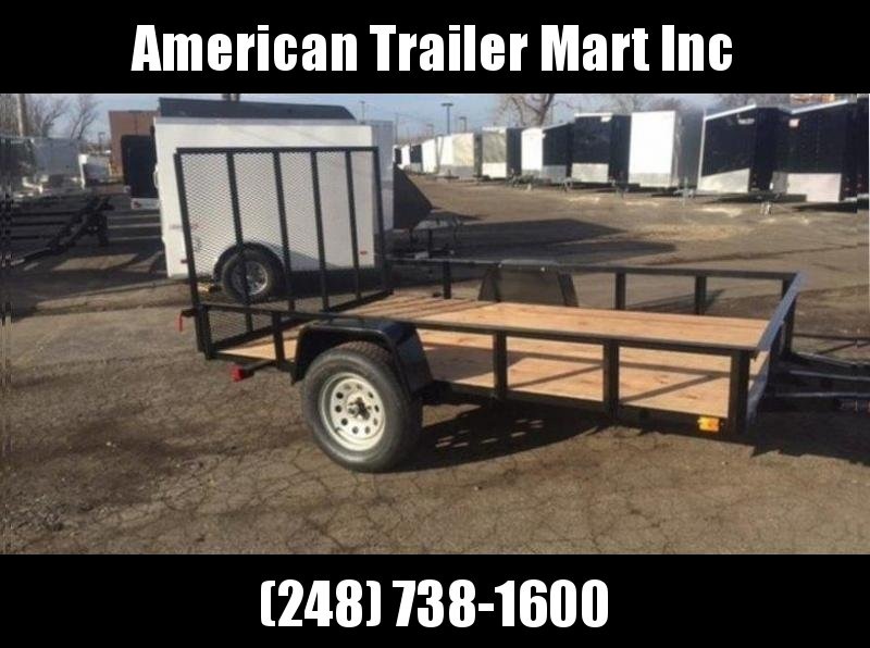 6.5 X 10 Single Axle Open Utility Trailer