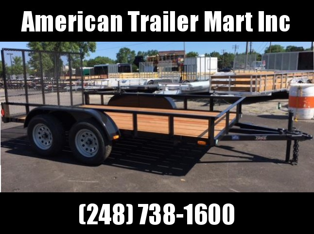 6.5 X 12 Tandem Axle Open Utility Trailer