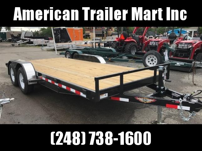 "82"" X 18 Flatbed /Tilt/ Open Car Hauler Trailer"