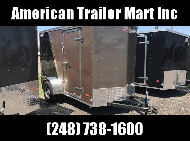5 X 10 Single Axle Enclosed Trailer