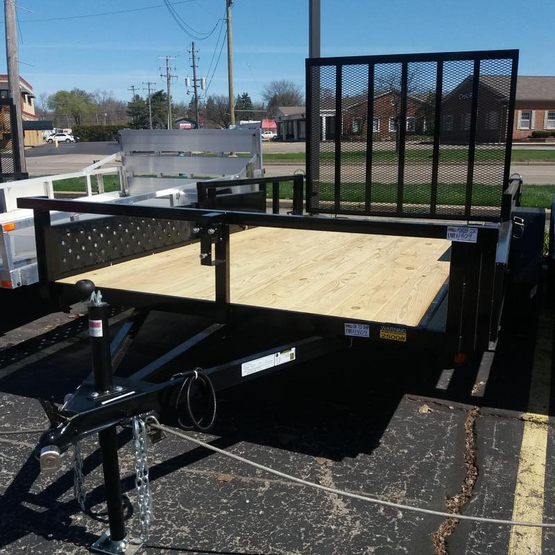 82 X 14 TANDEM AXLE OPEN UTILITY TRAILER ATV RAMPS