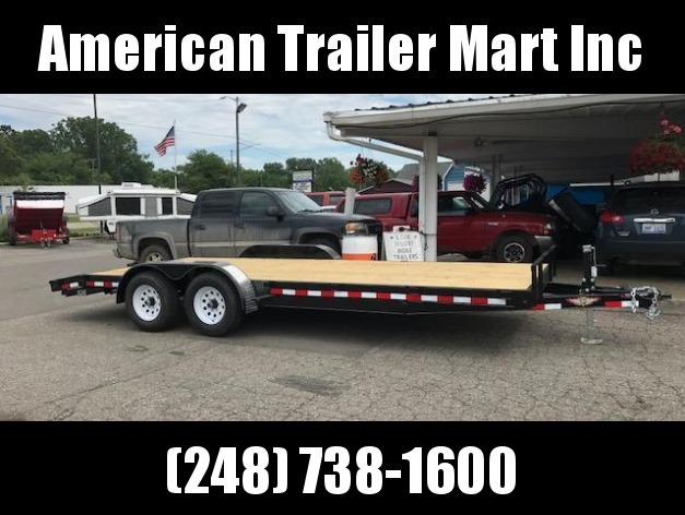 "82"" X 20 Flatbed / Open Car Hauler Trailer"