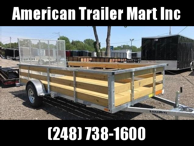 6.5 X 12 Galvanized Single Axle Utility Trailer