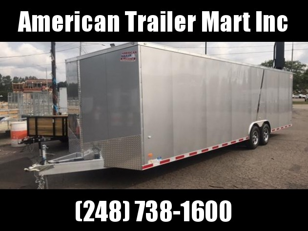 8.5 X 28 Tandem Axle Enclosed Car Hauler Trailer