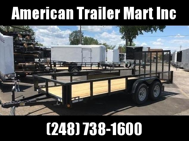 "82"" X 14 Tandem Axle Open Utility Trailer"