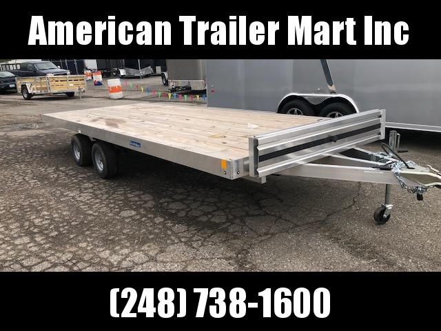 7 X 18 Open Aluminum Top Quad Trailer