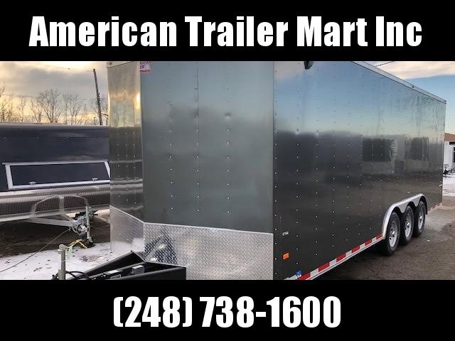 8.5 X 24 TRI Axle Enclosed Car Hauler Trailer