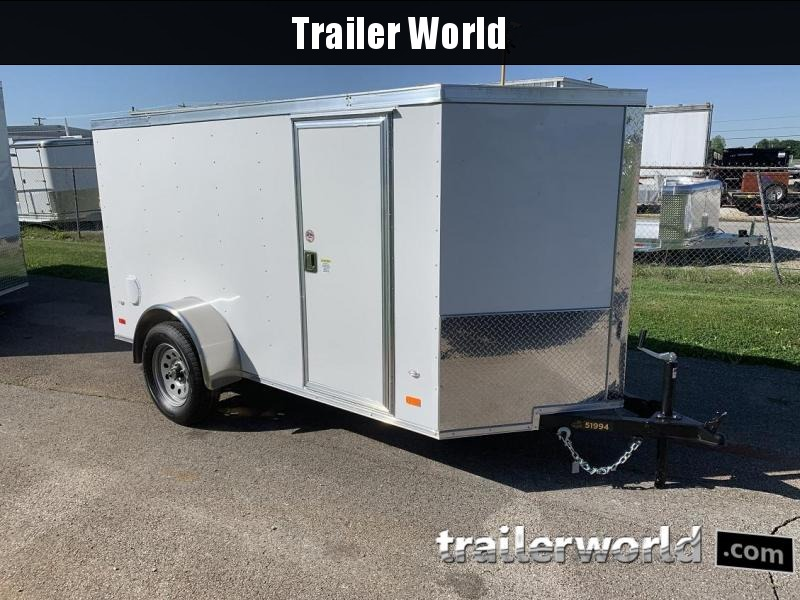 2019 CW 5' x 10' Vnose Enclosed Cargo Trailer Ramp Door