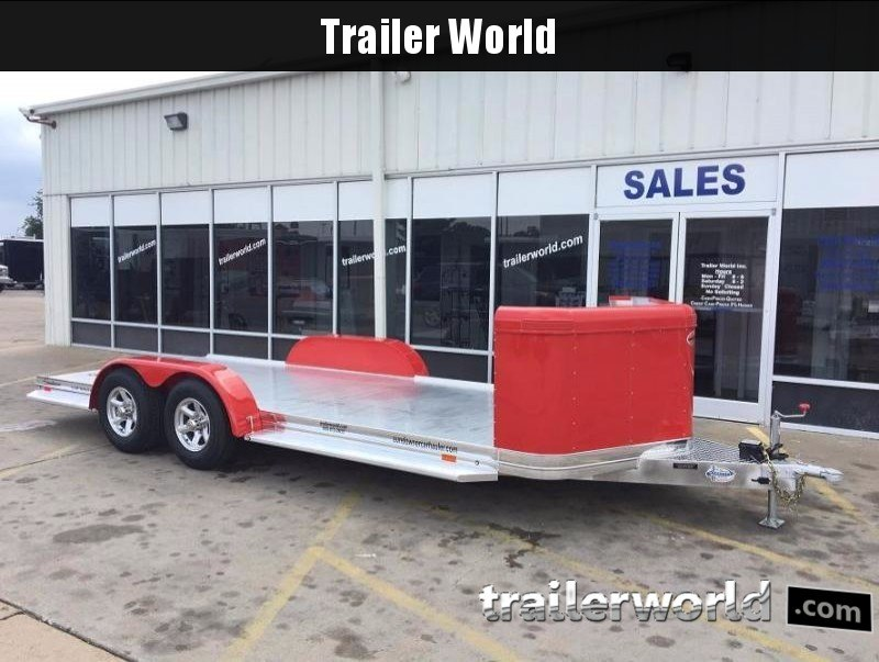 2018 Sundowner Aluminum Tapered Front Open Car Hauler Trailer