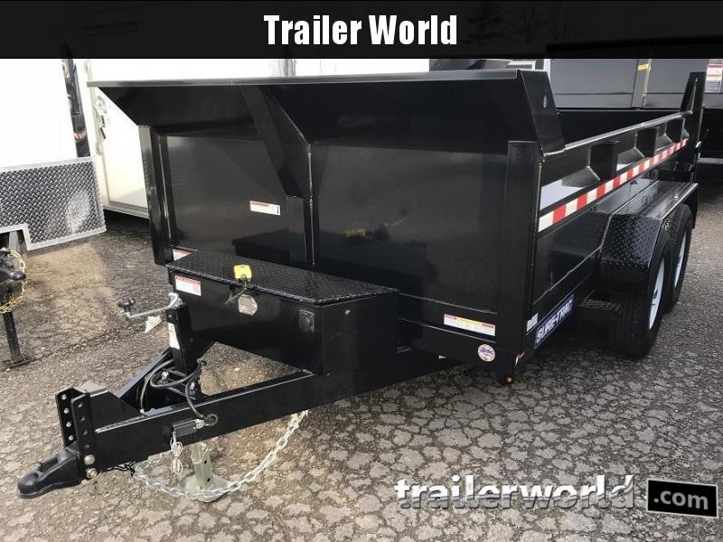 2020 Sure-Trac 14' LP 14K GVWR Scissor Hoist Dump Trailer