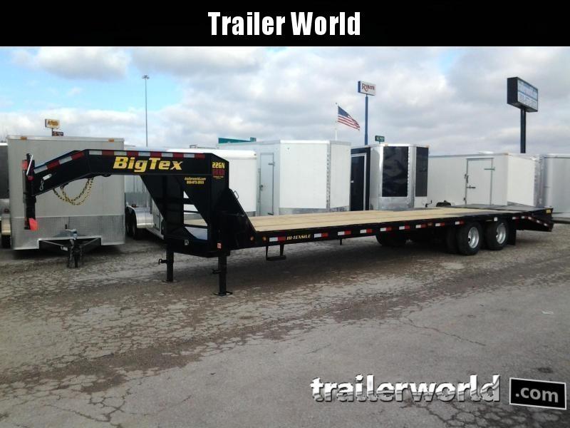 2018 Big Tex Trailers 22GN-28' + 5' Flatbed Equipment Trailer MEGA RAMPS