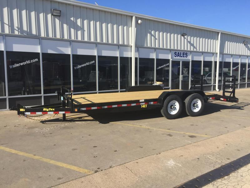 2017 Big Tex 14ET-18'  Flatbed Equipment Trailer  7 Ton