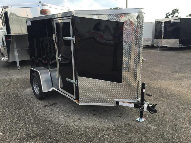 2017 Lark 5' x 8' Vnose Enclosed Cargo Trailer w/ Ramp Door