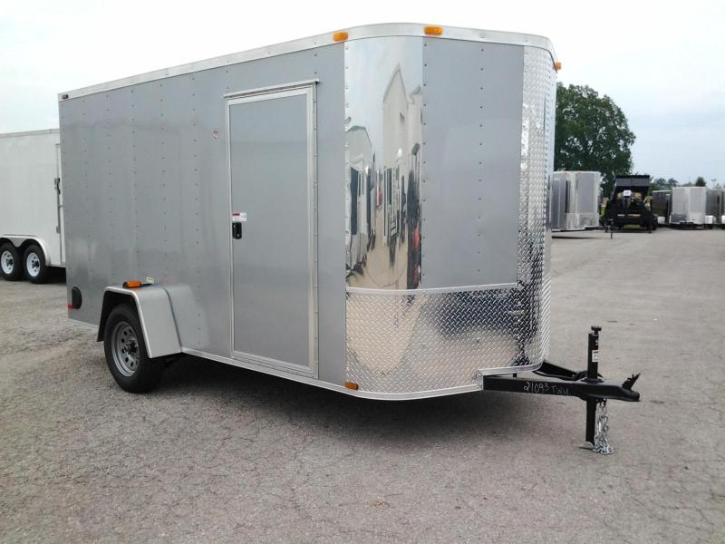 2015 ARI 6' x 12' Vnose Enclosed Cargo Trailer Ramp