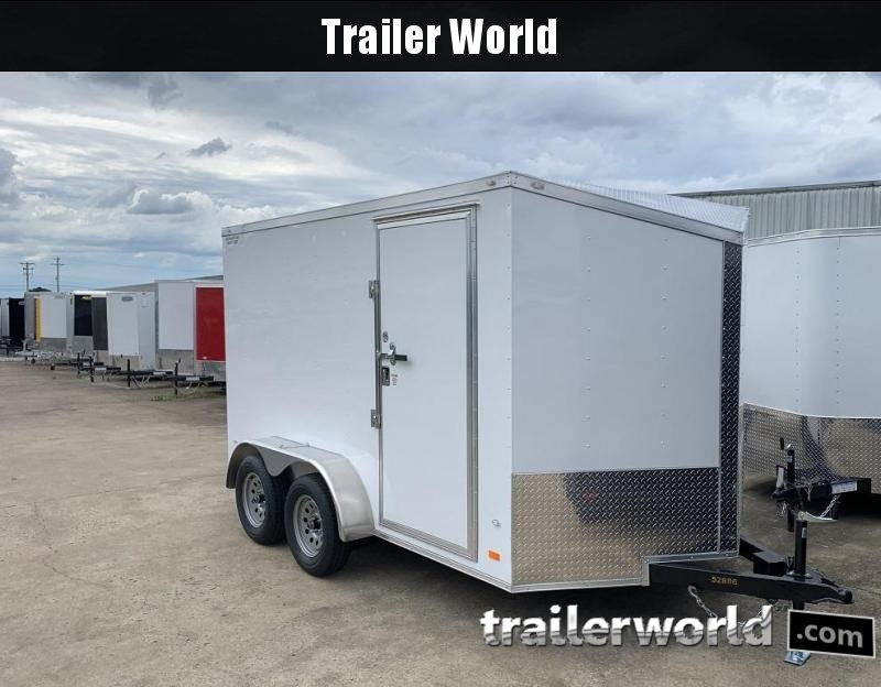 2019 CW 7' x 12' x 6.5' Vnose Enclosed Trailer Ramp Door