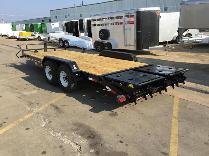 2017 Big Tex 14ET-20' Mega Ramps Equipment Trailer  7 Ton