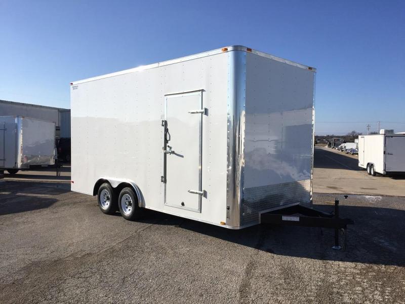 2016 Lark 8.5' x 18' x 8.5' Enclosed Cargo Trailer Ramp Door 10k GVWR