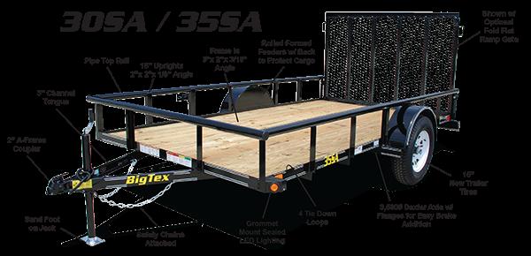 2015 Big Tex 35SA 12' x 6.5' Utility Trailer