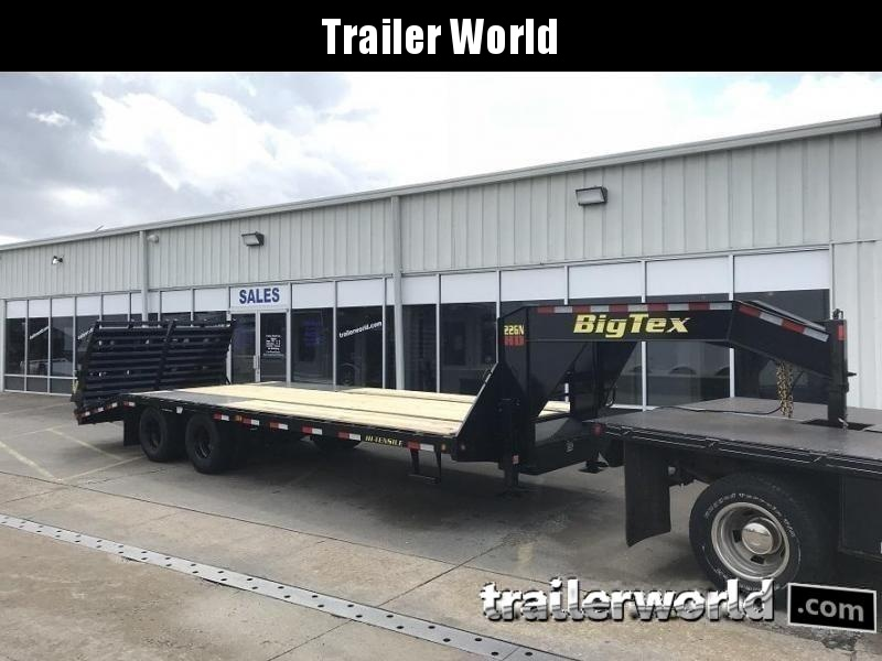 2019 Big Tex Trailers 22GN-20' + 5' Gooseneck Flatbed Trailer MEGA Ramps