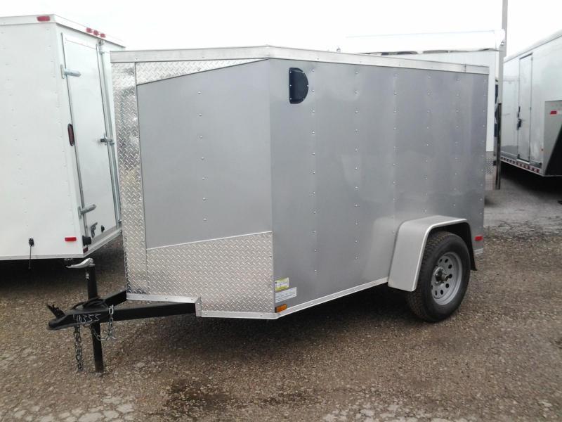 2015 Lark 5' x 8' Vnose Enclosed Cargo Trailer w/ Ramp