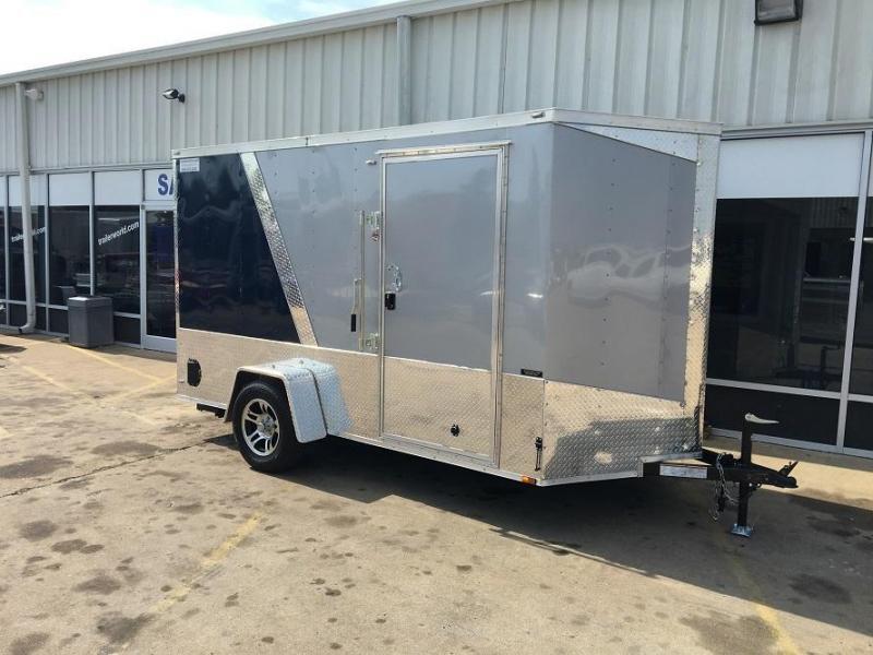 2017 Lark 6' x 12' x 6.5'  Loaded Enclosed Cargo Ramp Door Trailer