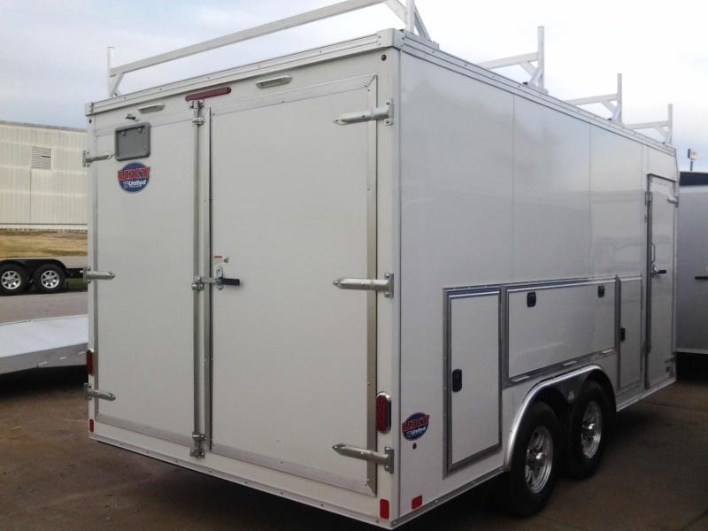 2015 United UXT 8.5' x 16'  Tool Crib Enclosed Cargo Trailer