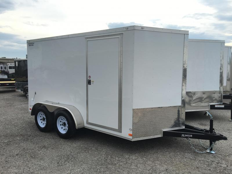 2016 CW 7' x 12' x 6.5' Cargo Vnose Enclosed Trailer Double Doors