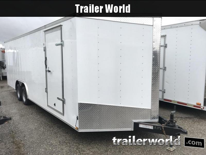 2018 24' Enclosed VNose Enclosed Car Hauler Trailer 7k GVWR