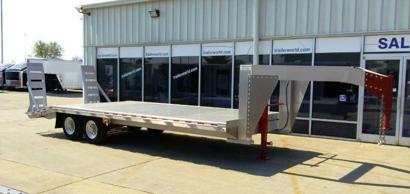 Trailer World 18' + 4' Aluminum Gooseneck Trailer