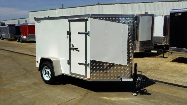 2014 Lark 5' x 8'  x 5' V-Nose Enclosed Motorcycle Trailer