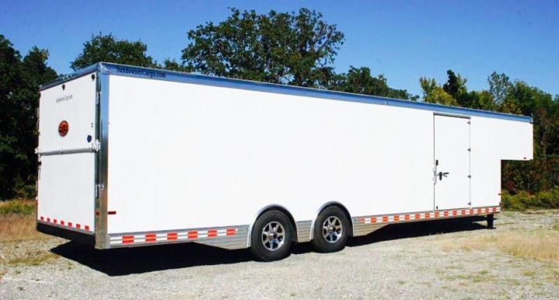 2015 Sundowner 38' Aluminum Gooseneck Enclosed Car Trailer