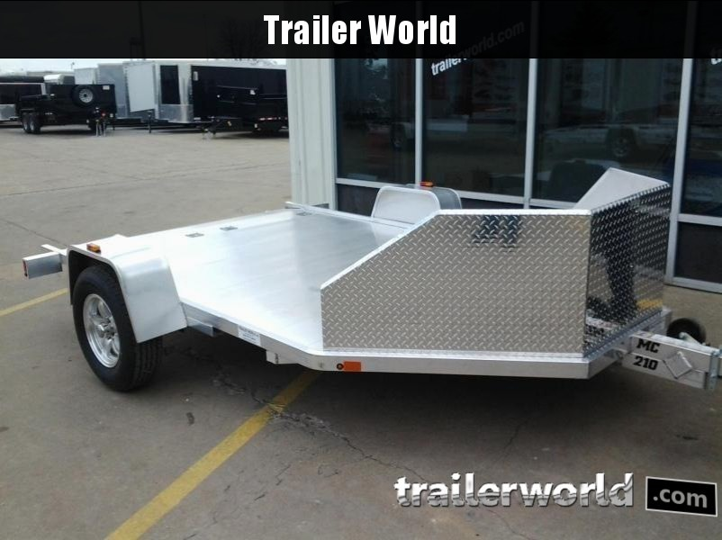 2018 Aluma MC210 Aluminum 2 Motorcycle Trailer