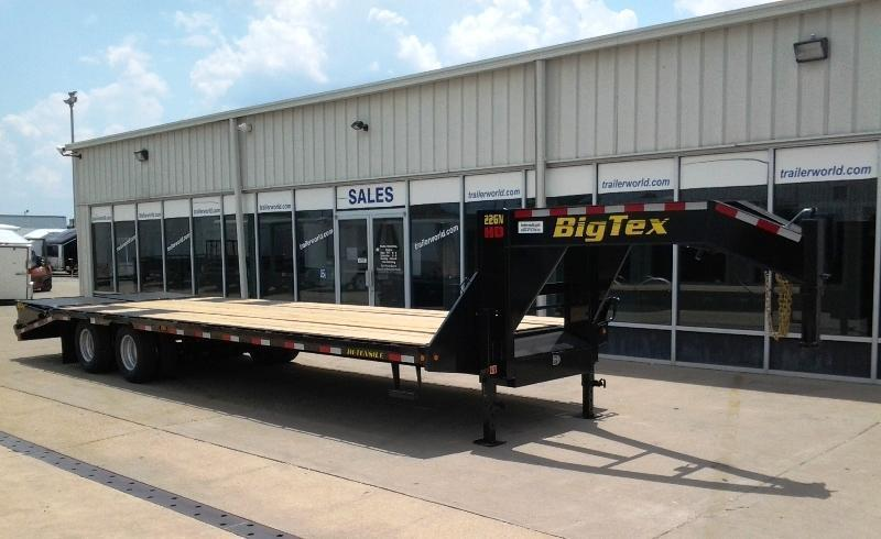 2014 Big Tex Trailers 22GN-28' + 5' Equipment Trailer MEGA RAMPS