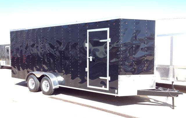2014 BTM 7' x 20' x 7'  Vnose Enclosed Cargo Trailer Ramp Door