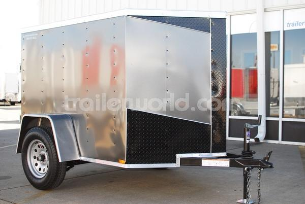 2014 Lark 5' x 6' x 4.5'  Vnose Swing Door Cargo Trailer