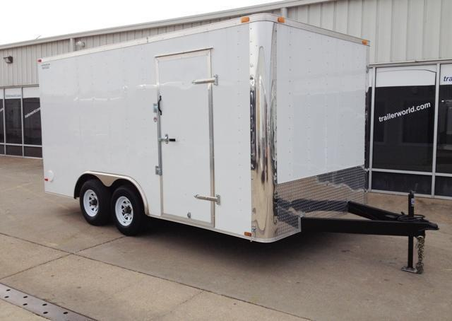 2016 Lark 8.5' x 16' x 7' Enclosed Cargo Trailer Ramp Door 10k GVWR