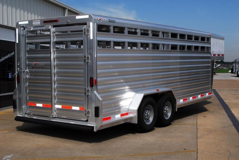 2015 Exiss 20' Stock Trailer