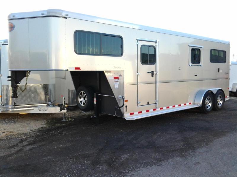 2015 Sundowner 2+1 Horse Trailer Gooseneck Charter SE Box Stall