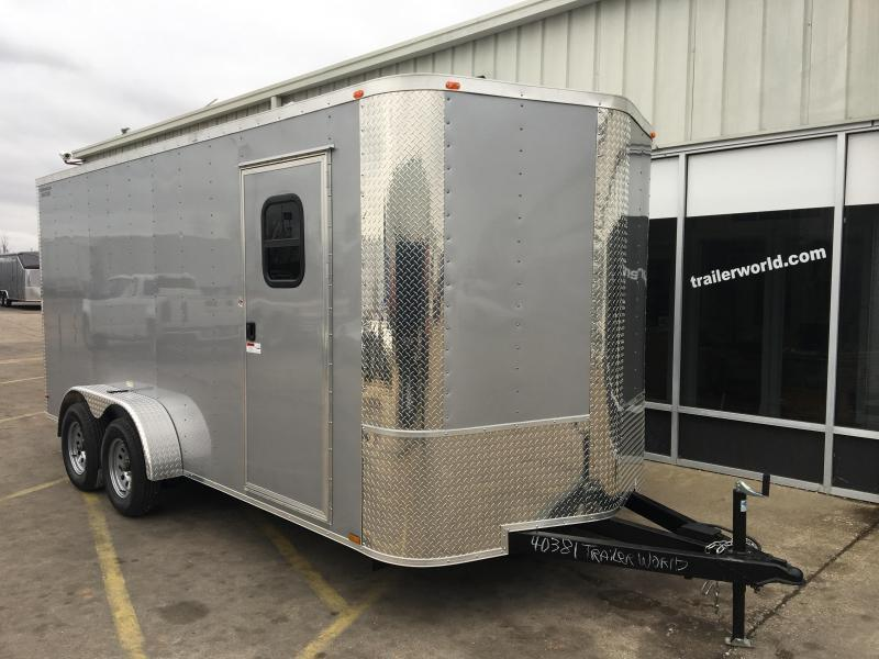"2017 ARI 7' x 18' x 6'9"" Enclosed Cargo Trailer w/ Windows"