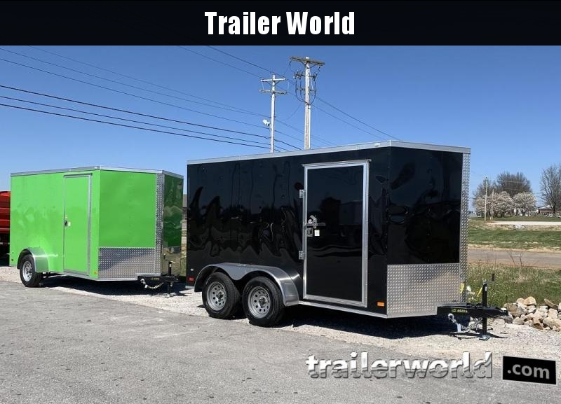 "2019 CW 6' x 12' x 6'3"" Tandem V-Nose Ramp Door Trailer"