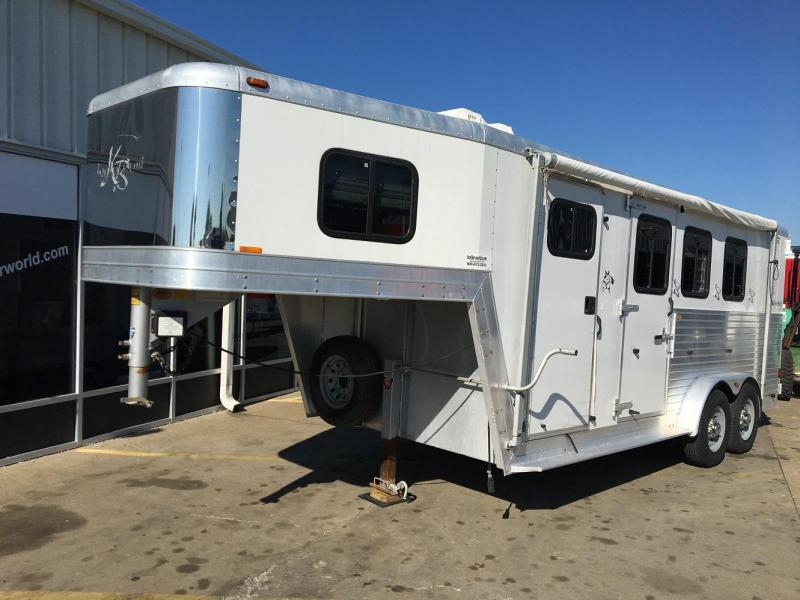 2002 Kiefer Built  3 Horse Trailer